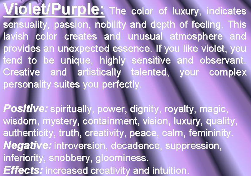 Color Psychology Purple