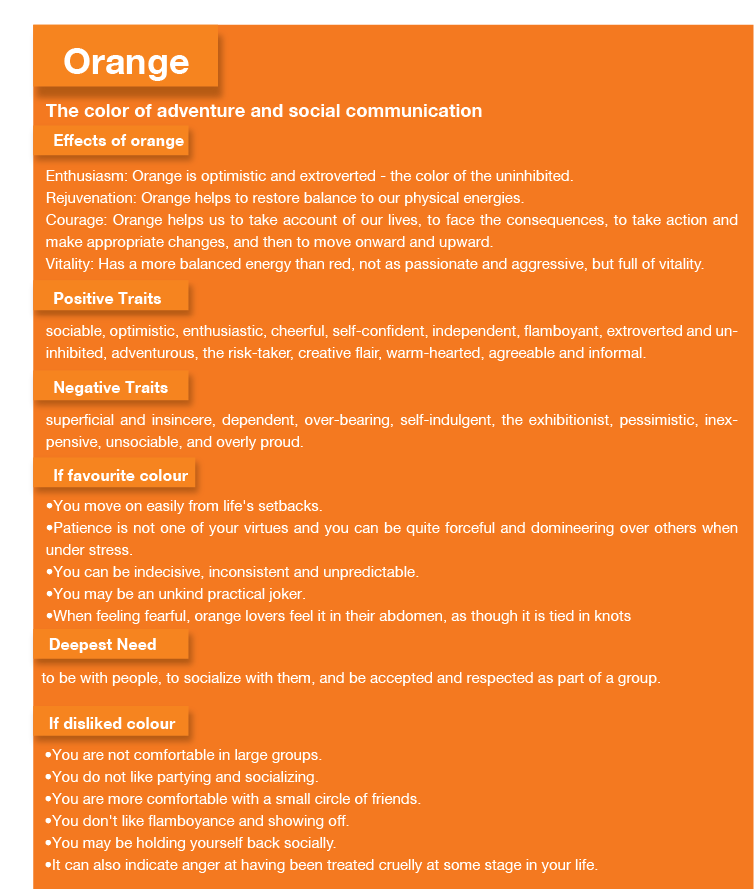 Orange Color Psychology Orange Meaning Personality