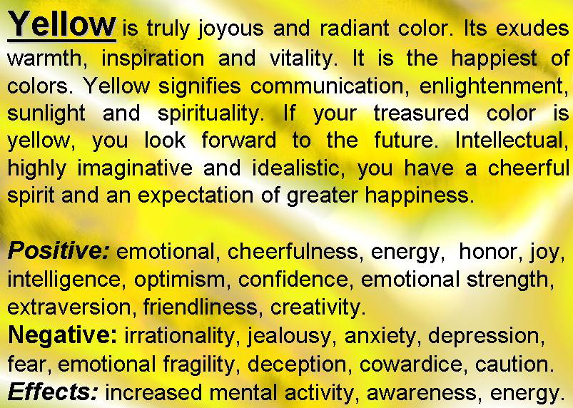 Yellow Color Psychology Yellow Meaning Personality
