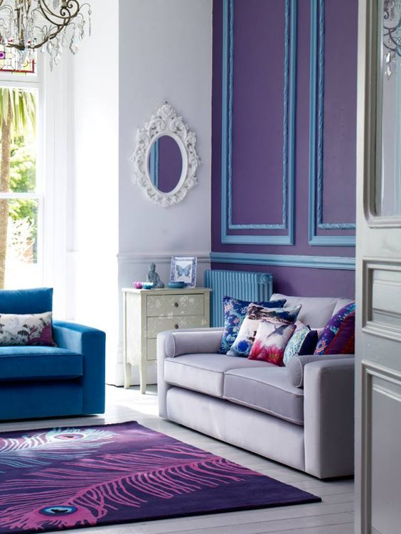 Violet Room Design: Analogous Colors: Definition, Examples And Schemes