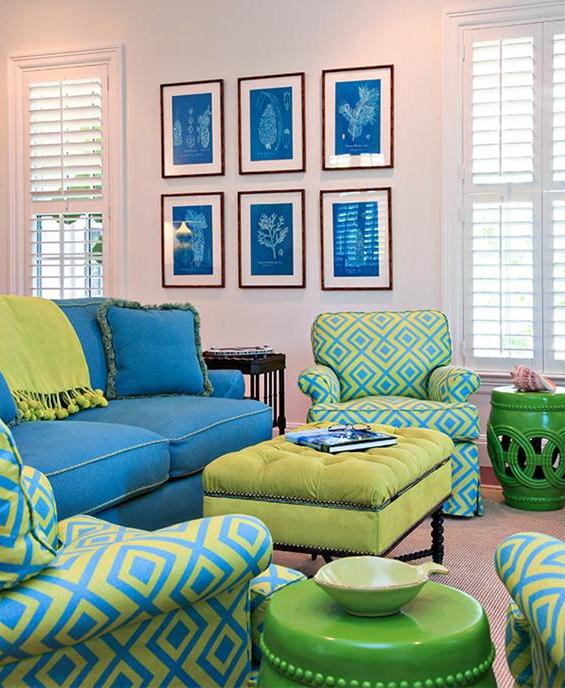 Example Usage Of Ogous Colors In Decoration Blue