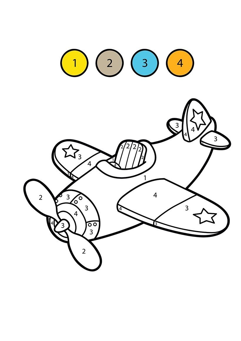 Free Printable Color by Number Coloring Pages for ...